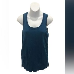 Ann Taylor Loft Teal Sleeveless Blouse